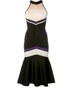 David Koma | Cut-Off Neck Detailing Dress Womens Size Small Rayon/Nylon/Spandex/Elastane