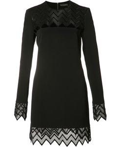 David Koma | Sheer Cut-Off Panel Dress Womens Size 8 Spandex/Elastane/Acetate/Viscose/Polyester