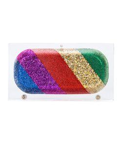 Sarah's Bag   Rainbow Pill Clutch Womens Acrylic