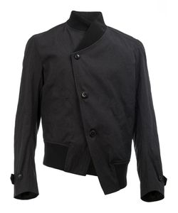 Ann Demeulemeester Grise | Asymmetric Jacket Mens Size Small Cotton/Acetate/Rayon/Metal
