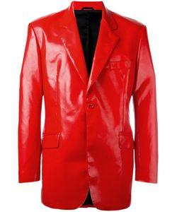 Moschino Vintage | Faux Leather Blazer Mens Size 50