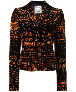 Moschino Vintage | Printed Velvet Jacket Womens Size 42