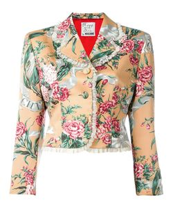 Moschino Vintage | Floral Cropped Jacket Womens Size Small
