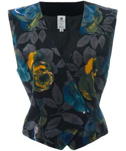 Emanuel Ungaro Vintage | Floral Print Velvet Waistcoat Womens Size 44