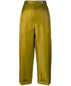 Christian Wijnants | Metallic Trousers Womens Size 40 Linen/Flax/Polyamide