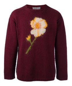 Yohji Yamamoto Vintage | Flower Intarsia Knit Jumper Mens Size Medium