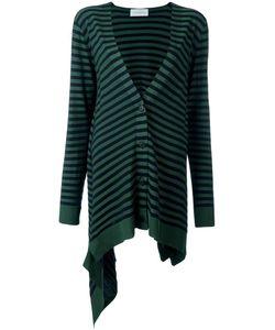 Christian Wijnants | Krista Striped Cardigan Womens Size Medium Polyester/Viscose/Virgin Wool