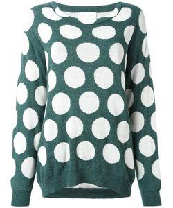 Christian Wijnants | Knack Jumper Womens Size Small Cotton/Polyamide/Wool