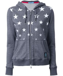 Guild Prime | Star Print Zipped Hoodie Womens Size 36 Cotton