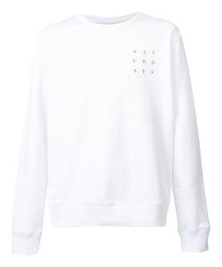 Saturdays Surf Nyc   Logo Print Sweatshirt Mens Size Xl Cotton