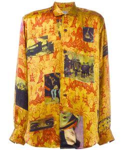 Yohji Yamamoto Vintage | Printed Silk Shirt Mens Size 3