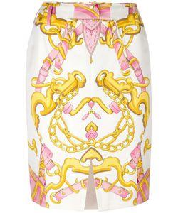 Christian Dior Vintage | Chain Print Skirt Womens Size 36