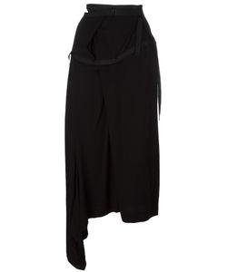 Yohji Yamamoto Vintage | Asymmetric Grosgrain Trim Skirt Womens Size Small
