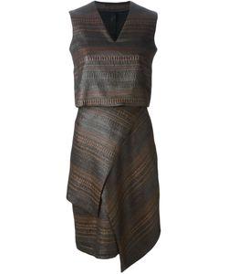 Victoria/Tomas | Textured Asymmetric Dress