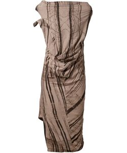 Tvscia | Tree Print Draped Asymmetric Dress