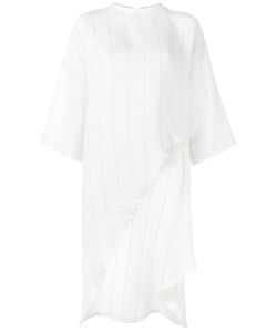 Esteban Cortazar | Asymmetric Stripe Top Womens Size 40 Ramie/Linen/Flax/Viscose