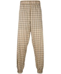 Astrid Andersen | Lightweight Checked Track Pants Mens Size Medium Polyester