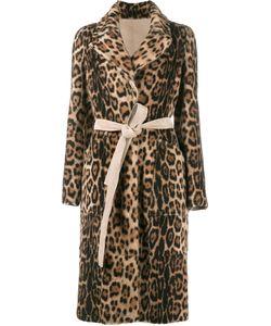 Yves Salomon | Leopard Print Coat Size 42 Lamb Nubuck Leather/Goat