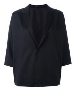 Y's   Three-Quarters Boxy Blazer Womens Size Small Wool/Cupro
