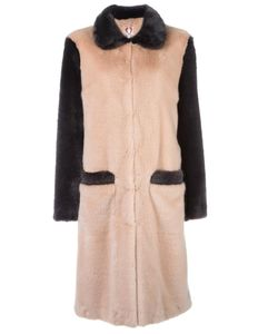 Shrimps | Fur Effect Mid Coat Womens Size 8 Modacrylic/Polyester/Acetate/Viscose