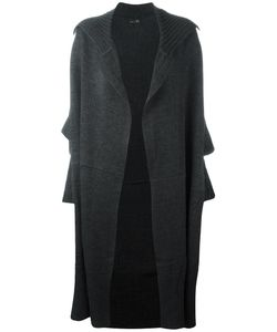 Y's   Oversized Mid Cardi-Coat Womens Size Small Wool/Acrylic/Alpaca/Silk
