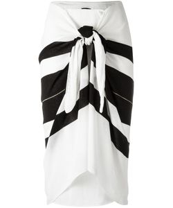 Osklen | Striped Midi Skirt Womens Size Medium Acrylic/Polyester/Viscose