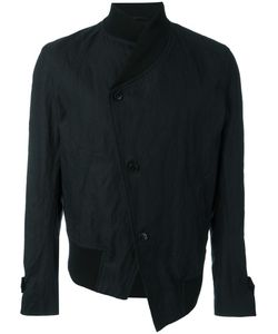 Ann Demeulemeester Grise | Asymmetric Bomber Jacket Mens Size Medium Cotton/Metal/Viscose/Cotton