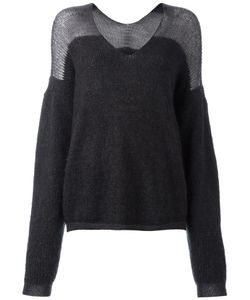 Ilaria Nistri | V-Neck Loose-Fit Jumper Womens Size Large Virgin Wool/Mohair/Polyamide