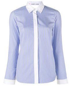 Sandy Liang   Striped Enzo Shirt Womens Size 38 Cotton