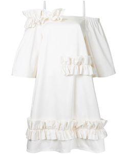 Paskal | Ruffled Trim Dress Womens Size Xs Cotton/Spandex/Elastane