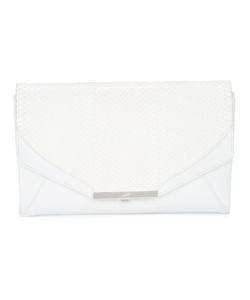 Khirma Eliazov | Contrast Panel Clutch Bag Womens Watersnake Skin/Leather/Suede