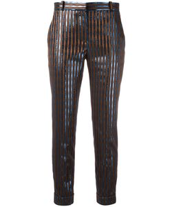 Carven | Striped Pants Womens Size 40 Polyester/Acetate/Viscose/Metallized Polyester