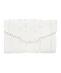 Khirma Eliazov | Panelled Clutch Bag Womens Watersnake Skin/Suede
