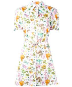 Olympia Le-Tan   Mushroom Print Shirt Dress Womens Size 38 Cotton