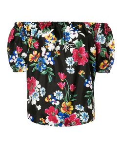 Piamita | Off-Shoulders Floral Blouse Womens Size Xs Silk
