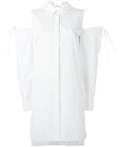 Dkny Pure | Cold Shoulder Shirt Womens Size Small Cotton