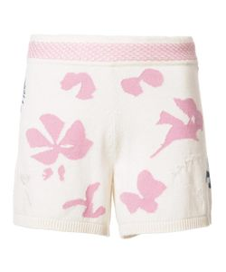 Barrie | Moon Flowers Shorts Womens Size Small Cashmere