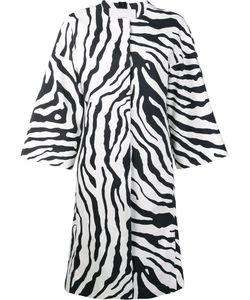 Adam Lippes | Animal Print Cocoon Coat Womens Size Large Cotton