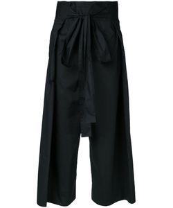 Demoo Parkchoonmoo | Paperbag Waist Cropped Pants Womens Size 36 Cotton/Polyurethane