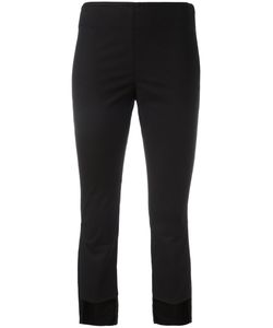 Hache   Asymmetric Cropped Trousers Size 40 Cotton/Linen/Flax/Spandex/Elastane