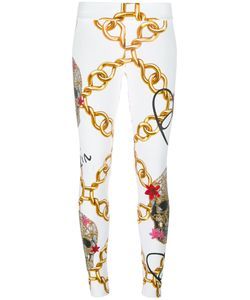 Philipp Plein | Chain Print Skinny Trousers Womens Size Small Cotton/Spandex/Elastane