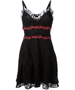 Giamba | Embroide Sweetheart Dress Womens Size 38 Polyester/Silk