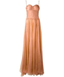 Maria Lucia Hohan | Bustier Sheer Gown Womens Size 34 Silk