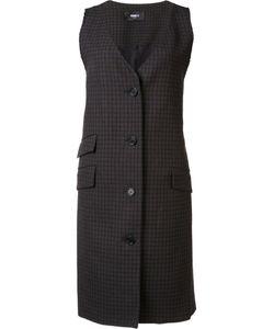 Yang Li | Checked Sleeveless Jacket Womens Size 40 Virgin Wool