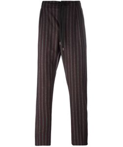 Andrea Pompilio | Drawstring Striped Trousers Mens Size 48 Wool/Polyamide/Other Fibers/Viscose