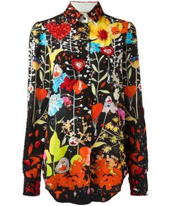 Piccione.Piccione | Piccione. Piccione Bead Embroidered Floral Shirt Womens Size 40 Silk/Polyester