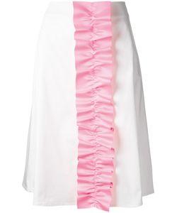 Paskal | Ruffled Trim Skirt Womens Size Medium Cotton/Spandex/Elastane