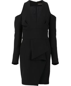 Alexandre Vauthier | Deep V-Neck Fitted Dress Womens Size 38 Viscose/Polyester