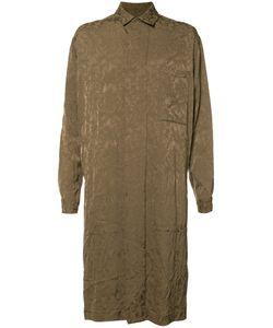 Uma Wang | Jacquard Coat Mens Size Medium Cupro/Viscose/Virgin Wool