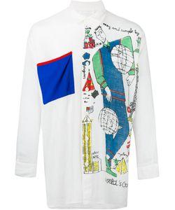 Jc De Castelbajac Vintage | Oversized Printed Shirt Adult Unisex Size Medium